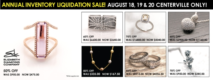Save Money on Jewelry at our Liquidation Sale