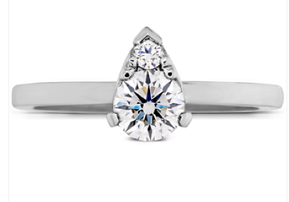 3. DESIRE SIMPLY TEARDROP SHAPE ENGAGEMENT RING